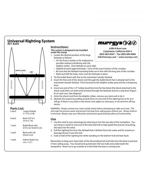 Universal righting system