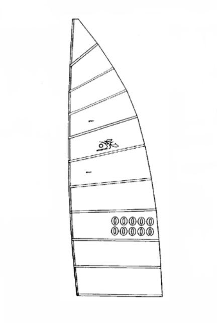 oem white hobie 18 main sail