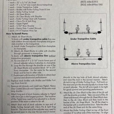 30-5015 Hobie 14 turbo jib rig kit