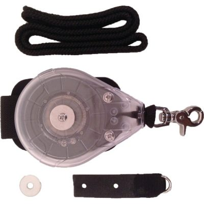 Reel leash kiteboard leash