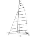 Murrays Hobie 18 Main Sail
