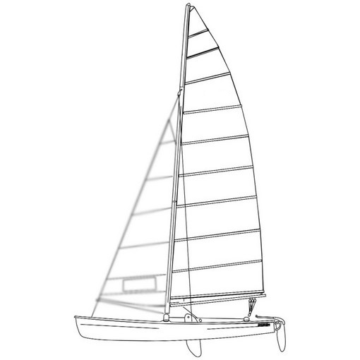 Murrays Hobie 18 Main Sail