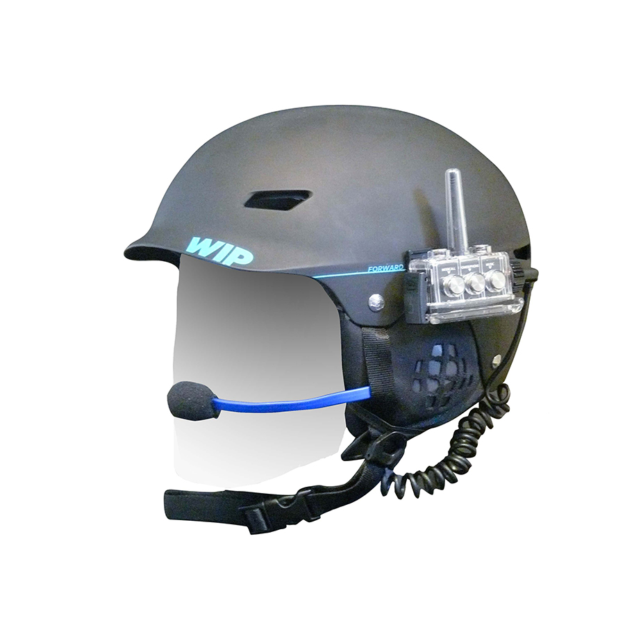 Forrward waterproof helmet communication system
