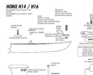 Hobie 16 Parts - Murrays Sports on