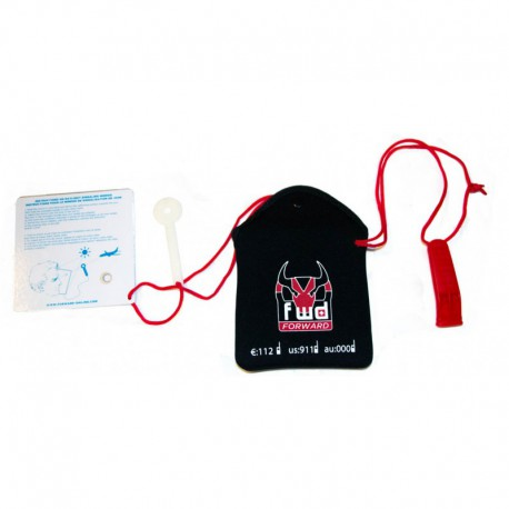 Forward Safety Pouch With Mirror and Whistle