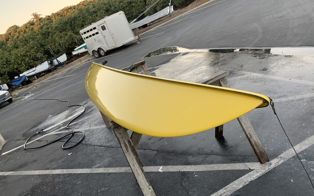 1981 Hobie Gets a new life! – Sticker Removal and Hull Cleaning.